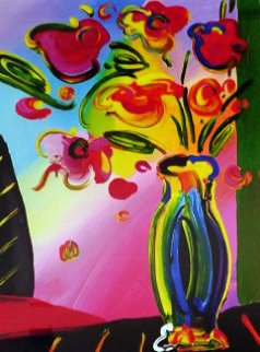 Vase of Flowers 2014 Limited Edition Print - Peter Max