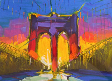 Brooklyn Bridge 2015 New York Limited Edition Print - Peter Max