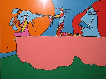 Giving the Light 1972 Limited Edition Print - Peter Max