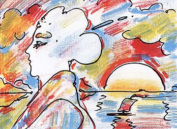 At the Lake PP 1980 Limited Edition Print - Peter Max
