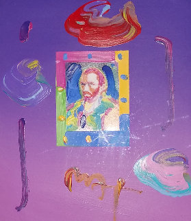 Van Gogh II Unique 2005 16x12 Works on Paper (not prints) - Peter Max
