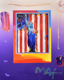United We Stand 2005  Unique 28x32 Works on Paper (not prints) - Peter Max