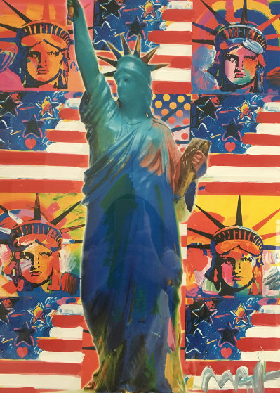 God Bless America - With Five Liberties Unique 2001 38x32