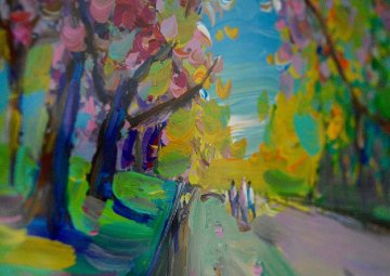 Four Seasons II: Spring Ver III #6 (Central Park) 2013 28x24 Works on Paper (not prints) by Peter Max
