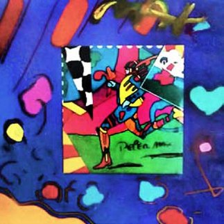 Collage Unique  1996 20x22 Works on Paper (not prints) - Peter Max