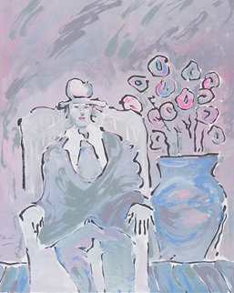 Seated Man 1981 Limited Edition Print - Peter Max