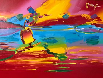 Stormy Sail   2002 44x56 Original Painting - Peter Max