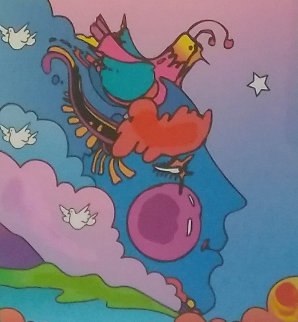 Woodstock Series Profile 2006 Unique 24x23 Works on Paper (not prints) - Peter Max