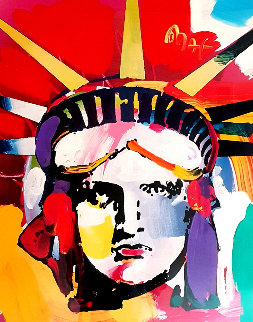 Statue of Liberty 2000 43x37 Works on Paper (not prints) - Peter Max