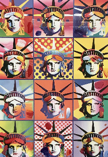 Liberty And Justice For All II Unique 2005 40x34 Works on Paper (not prints) - Peter Max