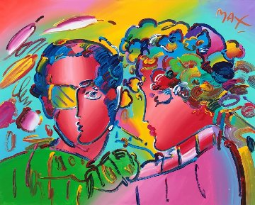 Zero in Love 1992 70x58 Original Painting - Peter Max