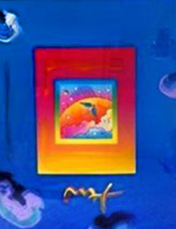 Angel With Clouds on Blend Unique 2008 27x31 Works on Paper (not prints) - Peter Max