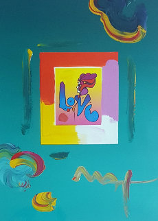 Love   Unique 2008 23x27 Works on Paper (not prints) - Peter Max