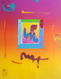 Love II  Mini Unique 2008 27x31 Works on Paper (not prints) - Peter Max