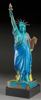 Statue of Liberty Bronze Sculpture 1990 22in Sculpture - Peter Max