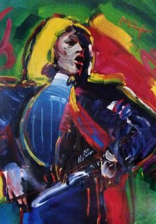 Mick Jagger Unique  2003 45x31    Works on Paper (not prints) - Peter Max