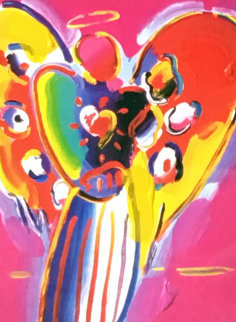 Angel With Heart 10x8 Works on Paper (not prints) - Peter Max