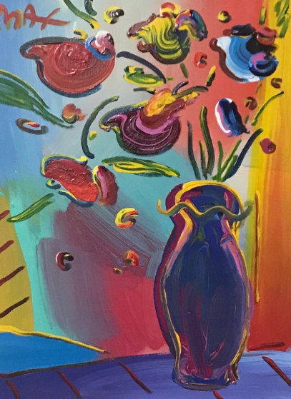 Vase Of Flowers 33x38 By Peter Max