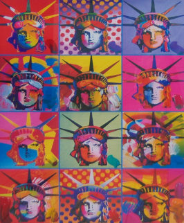 Liberty and Justice For All Unique 24x18 Works on Paper (not prints) - Peter Max