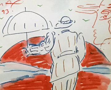 Untitled 1993 20x22 Works on Paper (not prints) - Peter Max