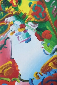Blushing Beauty 14x20 Original Painting - Peter Max