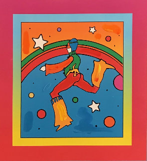 Cosmic Jumper Detail on Blends Unique 2005 Works on Paper (not prints) by Peter Max