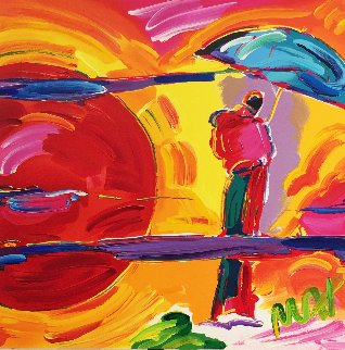 New Moon Unique 1989 11x11 Works on Paper (not prints) - Peter Max