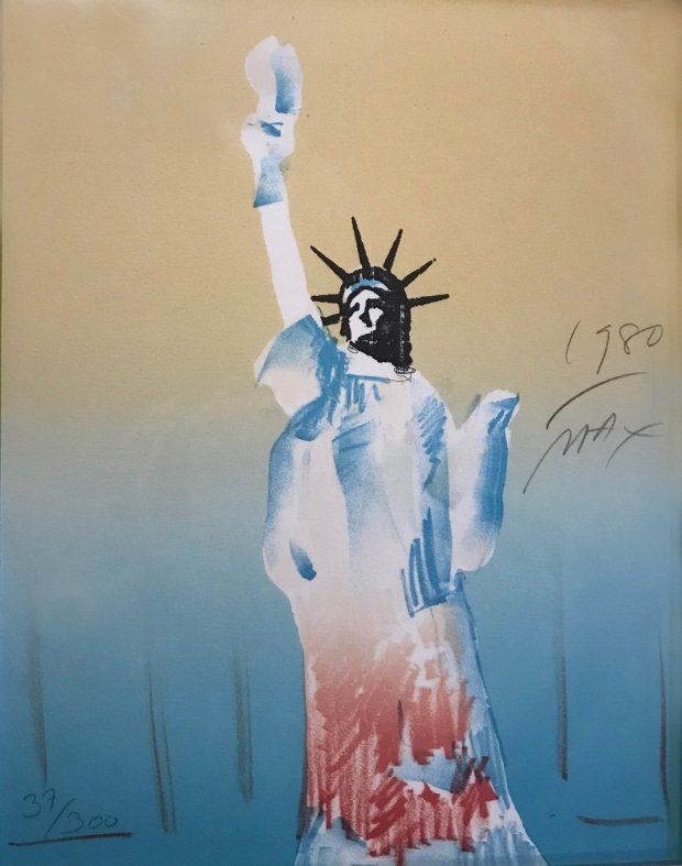 Statue of Liberty (Yellow And Light Blue)  1980