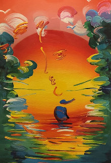 Better World  Unique 2015  36x22 Works on Paper (not prints) - Peter Max