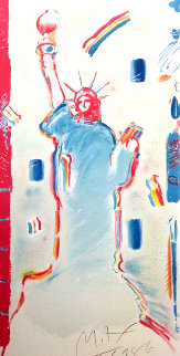 Statue of Liberty 1986 Limited Edition Print - Peter Max