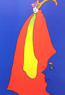 Prince of Blue AP 1973  Limited Edition Print - Peter Max