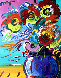 Vase of Flowers Series XVII Ver. II 2014 31x27 Original Painting by Peter Max - 0