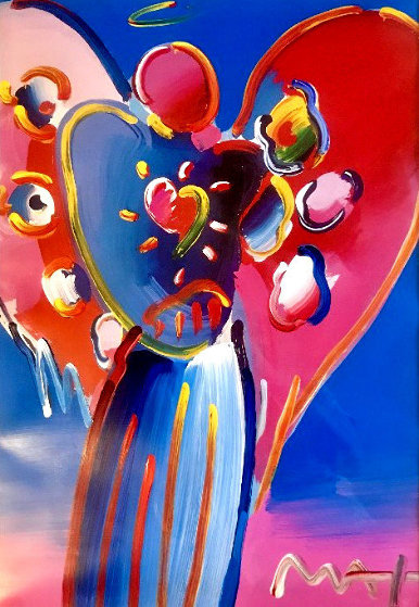 Angel With Heart 2005 34x30 by Peter Max