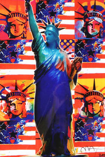 God Bless America Limited Edition Print - Peter Max