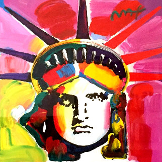 Liberty Head 2014 42x42 Works on Paper (not prints) - Peter Max