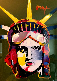 Liberty Head 45x35 Original Painting - Peter Max
