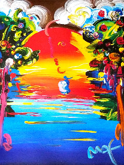 Better World III 1999 Embellished Works on Paper (not prints) - Peter Max