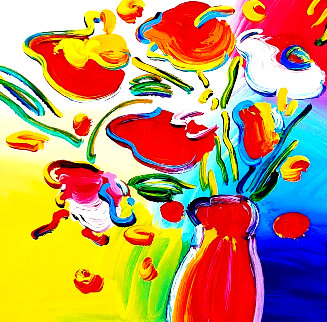 Vase of Flowers 2012 Limited Edition Print - Peter Max