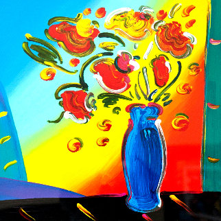 Vase of Flowers 2011 Limited Edition Print - Peter Max