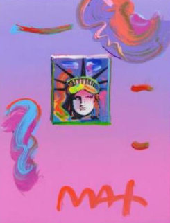 Liberty Head II Unique 2019 22x19 Works on Paper (not prints) - Peter Max