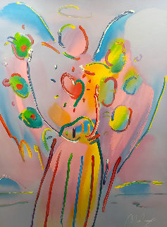 Angel With Heart Limited Edition Print - Peter Max