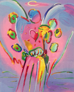 Angel With Heart 2015 Limited Edition Print - Peter Max