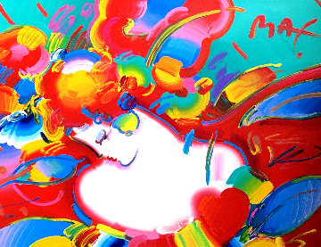 Flower Blossom Lady 1993 46x54 Works on Paper (not prints) - Peter Max