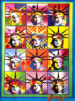 Liberty and Justice For All II 2005 40x34 Limited Edition Print - Peter Max