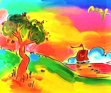 Quiet Lake II 2008 38x43 Works on Paper (not prints) - Peter Max