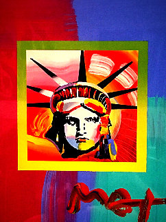 Liberty Head II on Blends: Americana Suite  Unique 2006 Works on Paper (not prints) - Peter Max