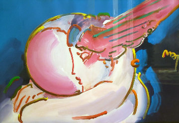 Peace 2000:  I Love the World Unique 24x36 Works on Paper (not prints) - Peter Max