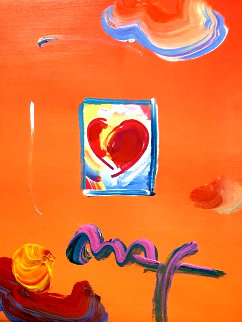Heart Series Ver. I #119 2008 24x22 Works on Paper (not prints) - Peter Max