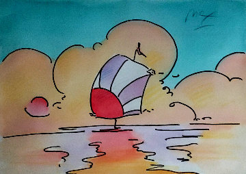 SJS: Sailboat Series 1 Ver. IV #1 24x26 Works on Paper (not prints) - Peter Max