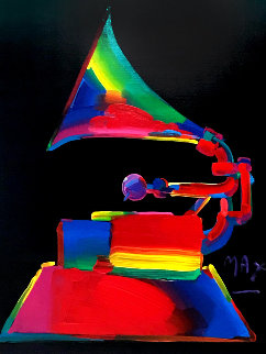 Grammy Unique 1989 46x36 Original Painting - Peter Max